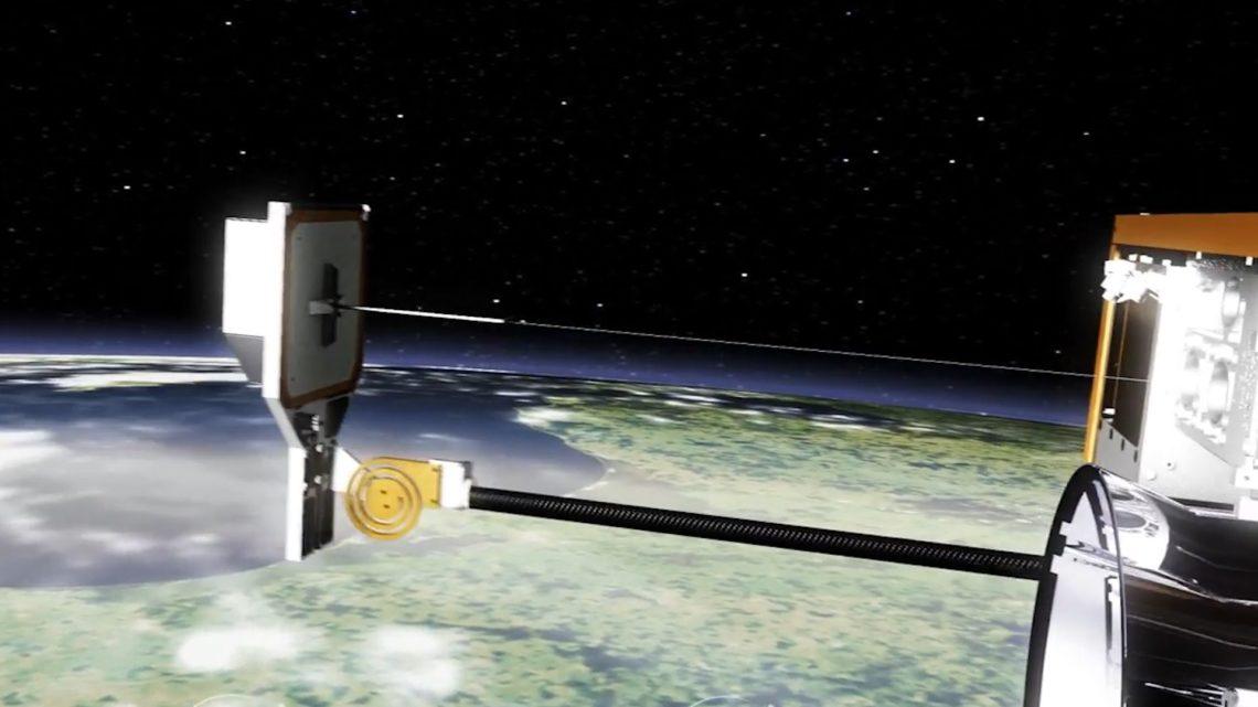 Airbus тестирует «гарпун» для захвата космического мусора