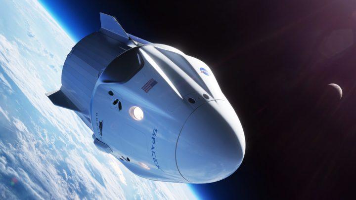 НАСА запустила к МКС новый космический корабль Crew Dragon