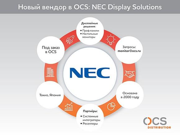 OCS и NEC Display Solutions начинают сотрудничество